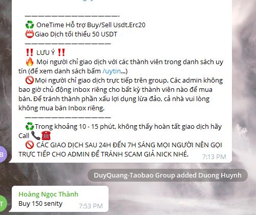 Hướng dẫn mua bán USDT