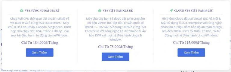 VPS Giá Rẻ Chỉ 75k 1 tháng