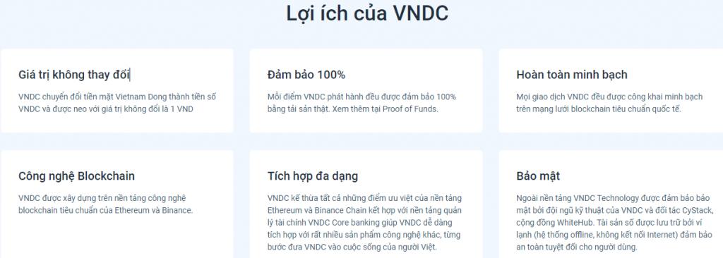 Lợi ích khi sử dụng ví VNDC